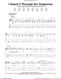 Guitar Solo Chart Revival I Heard It Through The Grapevine Sheet Music For Guitar Solo Easy Tablature