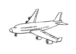 Vliegtuig Kleurplaat Inkleuren