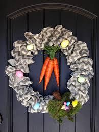 Chevron Burlap Easter Wreath. Click for 40 more #DIY #Wreath Ideas