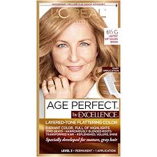 Age Perfect Hair Color Chart Loreal Paris Excellenceage Perfect Layered Tone Flattering Color 6 5g Lightest Soft Golden Packaging May Vary