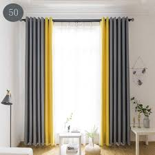 Curtain Designs And Colors Amazon Com Nanami Chic Simple Two Color Stitching Nordic