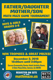 Father Daughter Mother Son 2016 Math Maze Game Tournament South