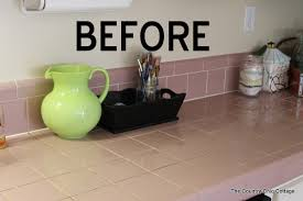 as a little demonstration i decided to show y all the power of vinegar in my kitchen i have tile counter tops that i but that i have to live with