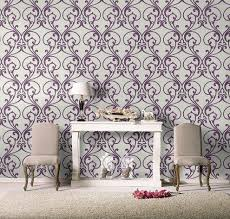 Purple Wallpaper For Bedrooms Retro And Feature Walls