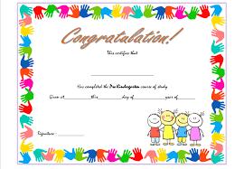 Preschool Graduation Certificate Editable Pre Kindergarten Certificate Template 1 Best 10 Templates