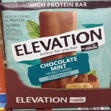 millville elevation chocolate mint protein and white chocolate macadamia nut energy bars aldi