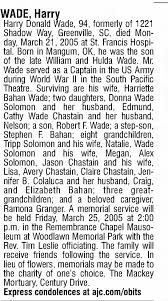 Obituary for Harry Donald WADE (Aged 94) - Newspapers.com