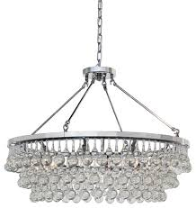 celeste chandelier chrome