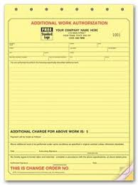 120 Additional Work Authorization Form Change Management