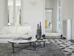 contemporary coffee table marble round circus by passerini partners