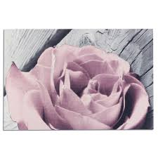 fl rose wall art pink grey white