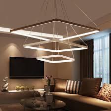 pendant lighting for living room. Modern LED Pendant Lights Hanging Lamp For Living Room Aluminum AC90-260V Lighting