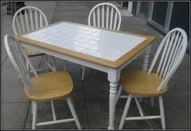 White Tile Kitchen Table And Chairs