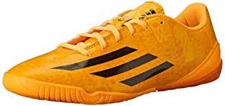 adidas performance men s f10 indoor messi soccer shoe solar gold black black