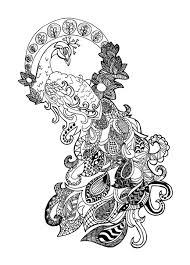 Small Picture peacock zentangle celine Zentangle Coloring pages for adults