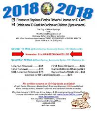 Driver 's Miami License Florida Card Or Services City Springs Of Id rrZ4q7nd