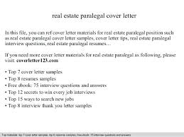 Cover Letter For Paralegal Position Real Estate Paralegal Interview