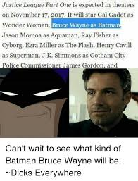 batman s and j k simmons justice league part one is expected in theaters