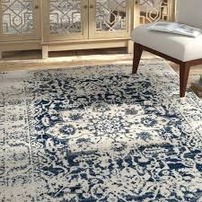 navy cream and gold rug bungalow rose grieve area reviews