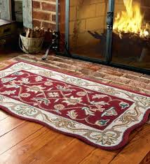 wool hearth rugs australia interesting for your house idea hand tufted fire resistant scalloped rug intended