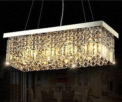 rectangular pendant lighting. Siljoy Rectangular Crystal Chandelier Lighting Dining Room Pendant L47\u0026quot; X W10\u0026quot; Y