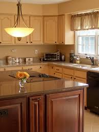 Yellow And Brown Kitchen Kitchen Simple Kitchen Wooden Kitchen Island White Ceramic