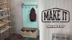 Menards Coat Rack Door Hall Tree Make It With Menards YouTube 3