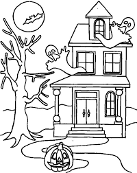 Small Picture haunted house coloring page haunted castle halloween coloring