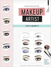 makeup artist eye charts the beauty studio collection gina m reyna 9781523323722 amazon books
