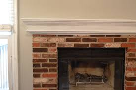 Mantel On Brick Fireplace How To Whitewash Brick Our Fireplace Makeover Loving Here