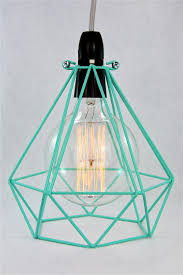 image of diamond wire cage pendant light