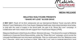 Malaysia Healthcare Presents Share My Love Blood Drive Malaysia Beauteous Message For My Healthcare And Love