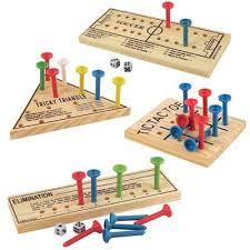 Wooden Peg Games Wooden Peg Game Assortment US School Supply 24
