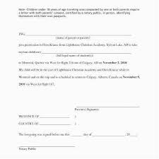 Sample Letter Of Consent To Travel Child Travel Consent Form 2018 Sample Letter Authorization Giving