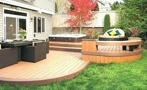 Backyard Deck Designs Plans Custom Inspiration