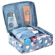 hiday fl print cosmetic makeup bag travel toiletry organizer 5 partments