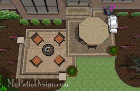 Backyard Paver Designs Delectable Medium Two Square Patio TinkerTurf