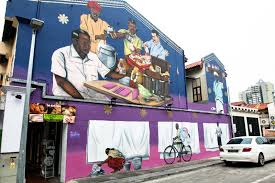 singapore murals traditional trades of little india by psyfool on wall mural artist singapore with paint the town red by hunting down these 10 famous street murals in