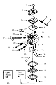 Poulan s25da gas saw parts diagram for carburetor wt 83 breakdown