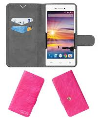 Lava Flair Z1 Flip Cover by ACM - Pink ...
