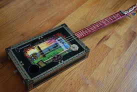 Decorating Cigar Boxes Custom Cigar Box Guitar by Rudely Elegant CustomMade 45