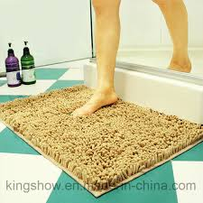 china tufted microfiber polyester chenille long pile carpet bath mat 40 60 china carpet rug