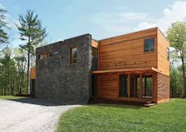 modern home architecture stone. RES4\u0027s Modern Prefab Home Beautifully Combines Wood And Stone In The Catskills Architecture H