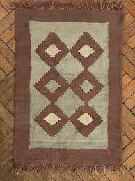 hand woven thick pure wool rug