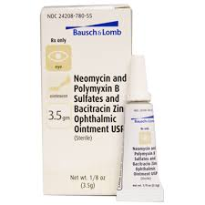 bausch lomb neopoly bac ophthalmic ointment 3 5gm manufacture may vary