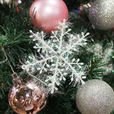 Us 249 10 Teilelos Künstliche Weiße Schneeflocke Weihnachten Dekorationen Für Startseite Christbaumschmuck Ornamente Festival Party Supplies