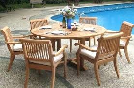 round outdoor dining table set stunning 6 foot diameter teak tab interior design