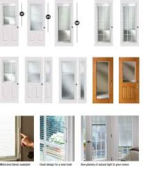 plain glass blinds for door glass inserts a