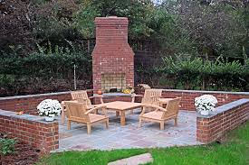 image of outdoor brick fireplace designs