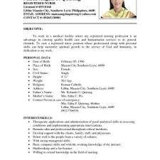 Sample Resume For Volunteer Nurse Philippines Inspirationa Resume